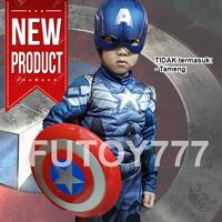 Jual Baju kostum anak captain America superhero avengers ulangtahun cosplay Murah