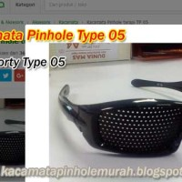 Kacamata Pinhole Glasses Tipe 05 Terapi Mata Rabun Jauh