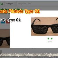 Kacamata Pinhole Glasses Tipe 01 Terapi Mata Rabun Jauh