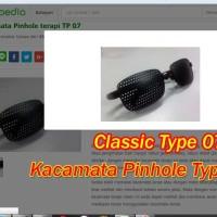 Kacamata Pinhole Tipe 07 Plus Terapi Mata Rabun Jauh De