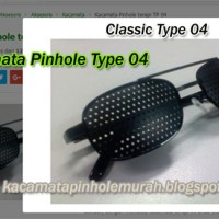 Kacamata Pinhole Tipe 04 Plus Terapi Mata Rabun Jauh De