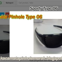 Kacamata Pinhole Glasses Tipe 06 Terapi Mata Rabun Jauh