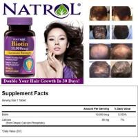 Biotin Natrol mempercepat pertumbuhan Rambut Cambang