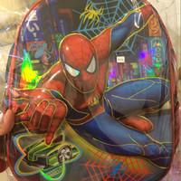 tas anak ransel backpak punggung karakter spiderman hardcase