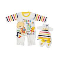 Pakaian Bayi Murah - JUMPER BABY BEAR HAPPY UNTUK USIA 0-3 BULAN (MM 7