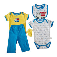Pakaian Bayi Murah - JUMPER BABY SETELAN KA'EL MOBIL SET 5 PCS (MM 774