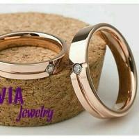 cincin kawin tunangan emas kuning