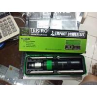 """IMPACT DRIVER SET TEKIRO 1/2"""" / OBENG KETOK TEKIRO 5 PCS"""