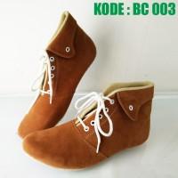 harga Sepatu Boot Wanita Tali   Sepatu Boots Cewek Maroon Merah Coklat Bc003 Tokopedia.com