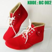 harga Sepatu Boot Wanita Tali   Sepatu Boots Cewek Maroon Merah Coklat Bc002 Tokopedia.com