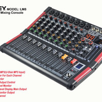 profesional audio mixer ASHLEY LM8 (8channel)
