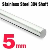 Jual 5mm x 1 Meter Shaft / Round bar / As Stainless Steel 304 Murah