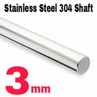 Jual 3mm x 1 Meter Shaft / Round bar / As Stainless Steel 304 Murah