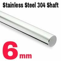 Jual 6mm x 1 Meter Shaft / Round bar / As Stainless Steel 304 Murah
