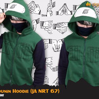 Jual Jaket Anime Naruto Kakashi Jounin Hoodie Jacket (Ja Nrt 67)