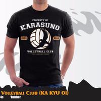 Jual Kaos Anime Haikyuu Karasuno Volleyball Club T-shirt (Ka Kyu 01)
