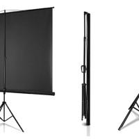 jual layar projector model tripod 96