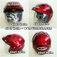 helm standart ZIP merah maroon glossy SNI
