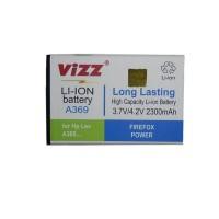 baterai batt double power vizz lenovo a369 a369i a316 2300 mah
