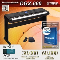Yamaha DGX 660 / DGX-660 / DGX660 Black / White - Digital Piano