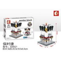 Lego Mini Block Sembo Bangunan Rumah Toko Bengkel Porsche SD6521
