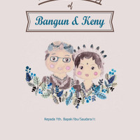 Undangan Pernikahan Single Hardcover Bangun & Keny - Bekasi