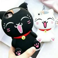 Samsung V G313 Case Silicon 3D kartun Lucky Cat softcase Hp Lucu