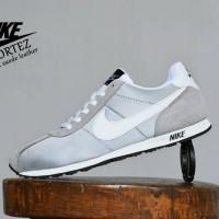 Sepatu Sport Casual Nike Cortez Grade Ori / Abu Abu / sneakers pria