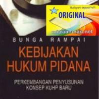 harga Bunga Rampai Kebijakan Hukum Pidana - Barda Nawawi Arief /ken Tokopedia.com
