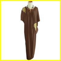 Jual Model Busana Baju Muslim Maxi Gamis Dress Pesta Batik Terbaru HEZZ0016 Murah