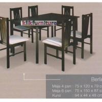 Meja Makan Berlin 4 Kursi Kotak Minimalis Caserini