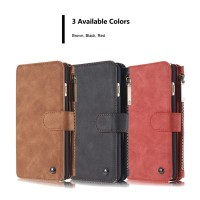 Samsung 7 Edge Caseme Multifunction Zipper Leather Luxury Wallet Case