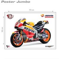 Poster jumbo: MOTOGP 2017 REPSOL HONDA RC213V #MGP04 - 50 x 70 cm