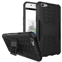 Jual Casing Oppo F1S A59/Lenovo Vibe 3X Rugged Armor Kick Stand Soft Case Murah