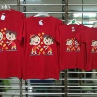 Jual kaos keluarga couple anak 2 , mama , papa motif imlek Chinese new year Murah