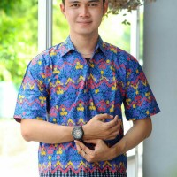 Harga hem batik unik busana kerja pria   Hargalu.com