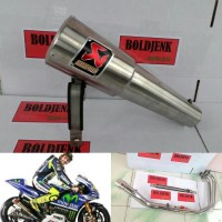 Knalpot Racing AKRAPOVIC GP Rossi For R25 / Mt25 / Ninja250/300 / Z250 / Cbr