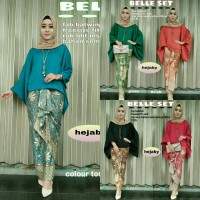 harga Hj Setelan Kebaya Batik Modern Belle Set(kemeja Batik,gamis Anak,kaos) Tokopedia.com