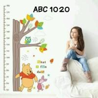 Jual Wall Stiker Uk.60x90 Wall Sticker Dinding Ukur Tinggi Badan Pooh Murah