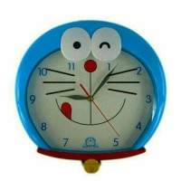 Jual Jam dinding karakter kepala Doraemon Murah