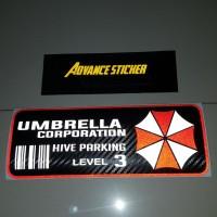 stiker/ sticker mobil umbrella corporation car id full warna