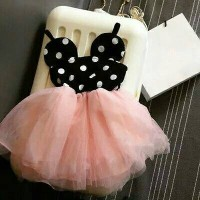 Jual Baju Bayi Dress Tutu Dots Minnie Pink Murah