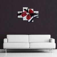 Lukisan Bunga Abstrak Merah Paling KEREN dan Termurah