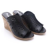 Dr.kevin Women Wedges Sandals 27227 - Black