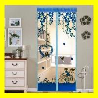 Tirai Magnet Anti Nyamuk Motif Karakter Gorden Kelambu Pintu Jendela