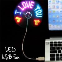 Kipas Angin USB Message Fan LED memunculkan tulisan saat berputar dj