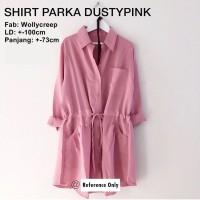 Baju Atasan Muslim Wanita / Kemeja Muslim Wanita [shirt Parka Dusty]