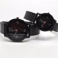 EXCLUSIVE jam tangan couple sepasang vinergy hitam tali karet anti air
