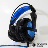Headset Locust Sades SA-704 USB Gaming 7.1 Sound