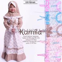 Gamis Kamila Kids Dress Ori Nawa Longdress Maxi Anak Katun Jepang